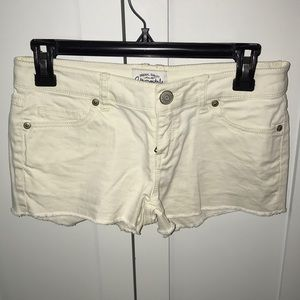 Aeropostale White Jean shorts